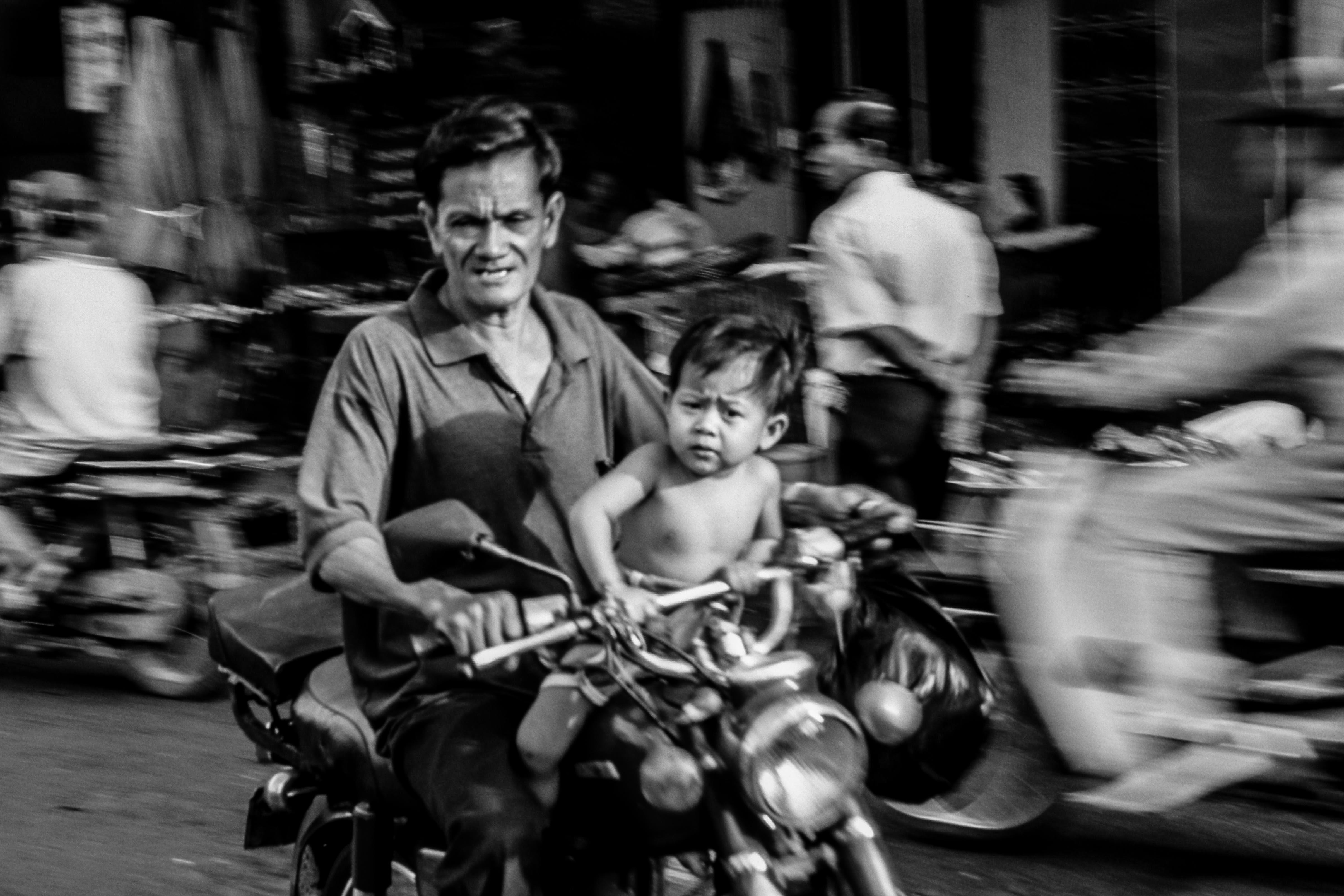Viet Nam, Saigon motorbikes