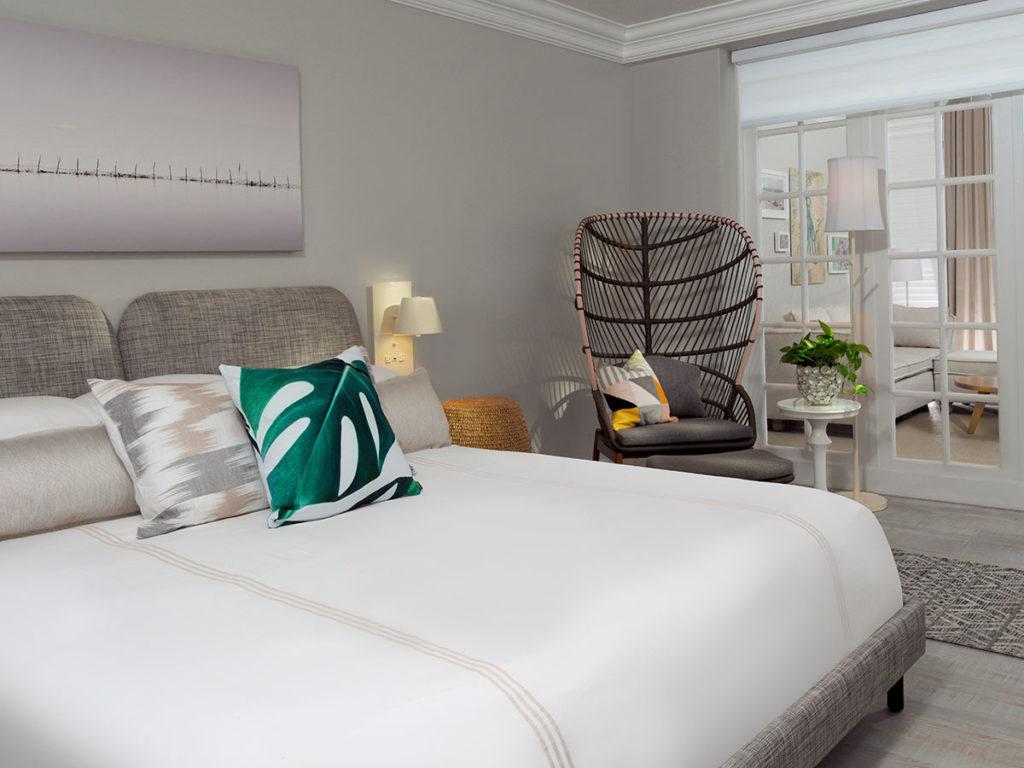 An oceanview room at Pelican Grand Beach Resort