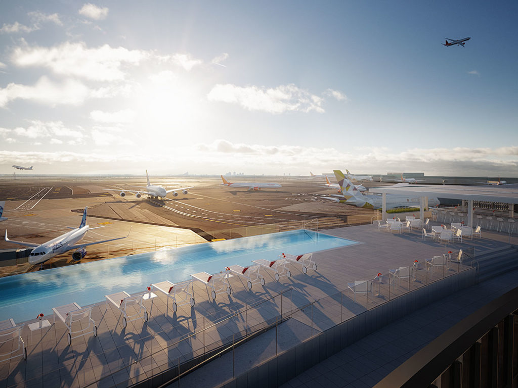 Rooftop pool at TWA Hotel