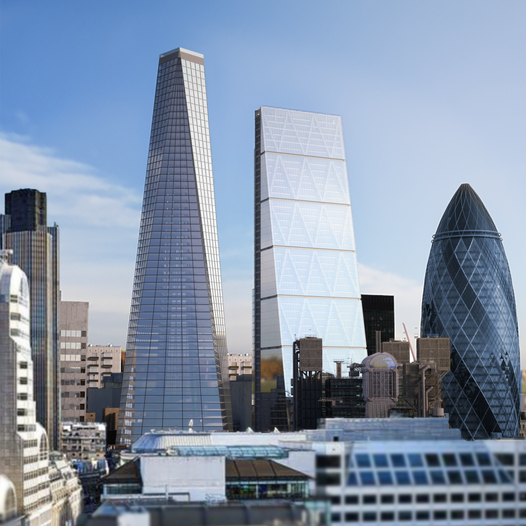 Swimmers will have a 360-degree view of the London skyline.