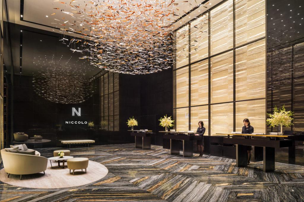 Sky lobby at Niccolo Changsha